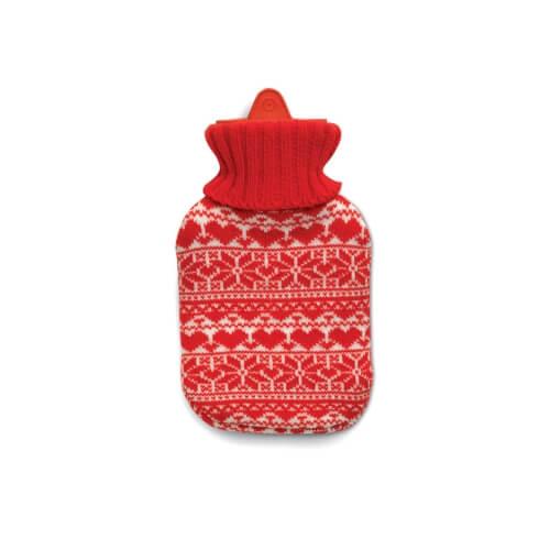 Termofor, ogrzewacz w świątecznym ubranku