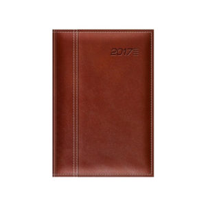 Kalendarz książkowy oprawa Skórzana ciemny brązowy