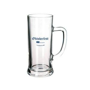 Kufel szklany z uchem 500 ml