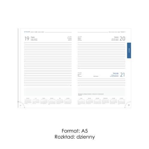 Kalendarze ksiązkowe A5 dzienne