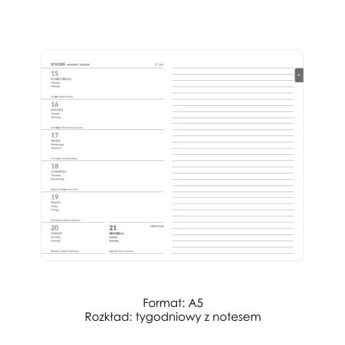 Kalendarze ksiązkowe z notesem 1
