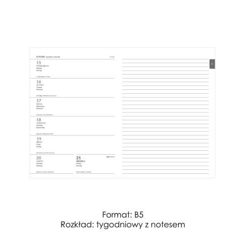 Kalendarze ksiązkowe z notesem 2