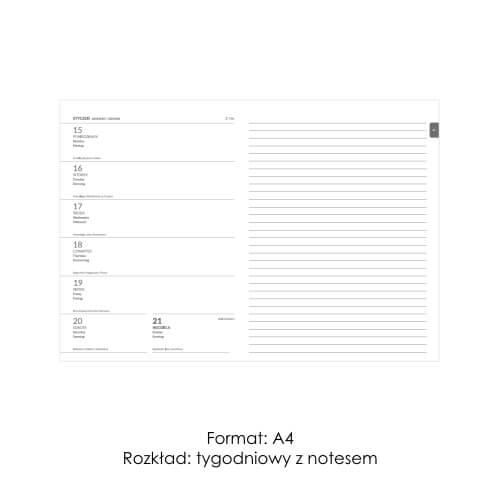 Kalendarze ksiązkowe z notesem 3