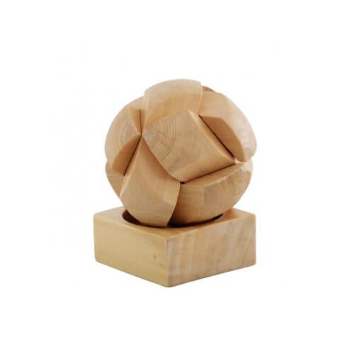 Drewniane puzzle piłka z nadrukiem