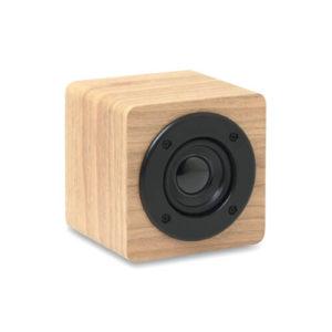 Drewniany głośnik z nadrukiem