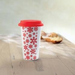 kubek świąteczny z przykrywką z logo firmy
