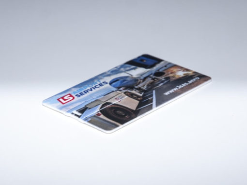Pendrive w kształcie karty kredytowej z nadrukiem