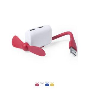Hub USB z wiatrakiem