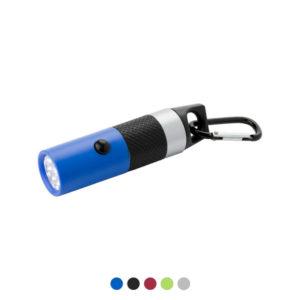 Latarka 9 LED z karabińczykiem