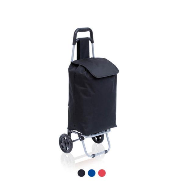Składany wózek na zakupy z logo