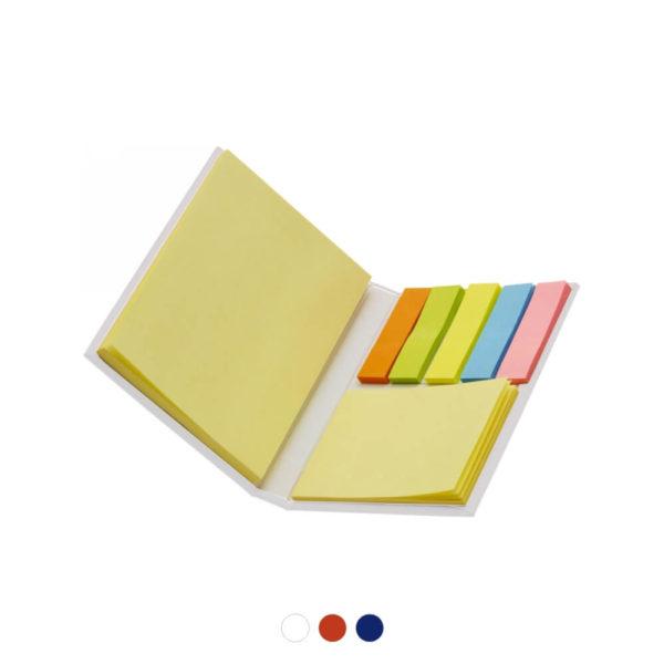Zestaw karteczek samoprzylepnych z logo
