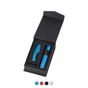 Zestaw narzędzi w pudełku z logo firmy