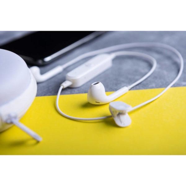 Bezprzewodowe słuchawki douszne z logo
