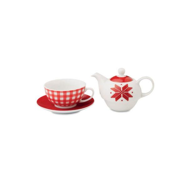 Zestaw do herbaty z nordyckim wzorem