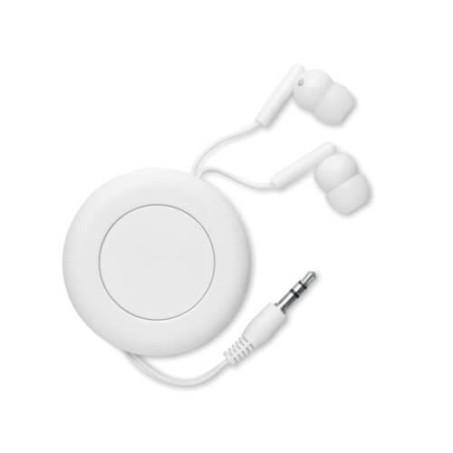 Słuchawki automatycznie zwijane z własnym nadrukiem