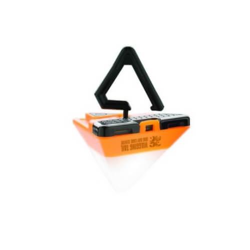 Trójkątna mini latarka z logo