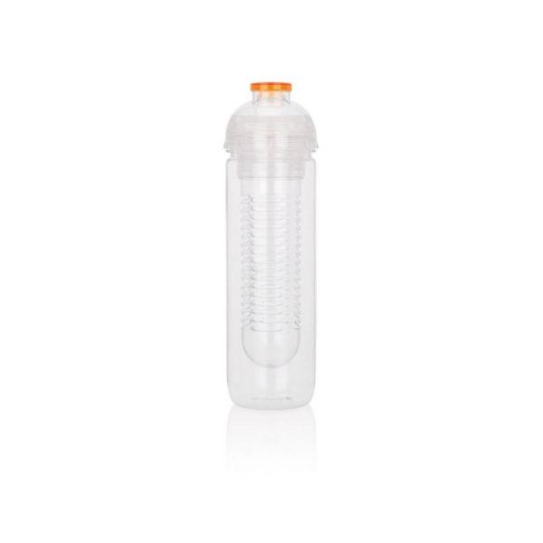 Butelka z pojemnikiem na owoce z logo
