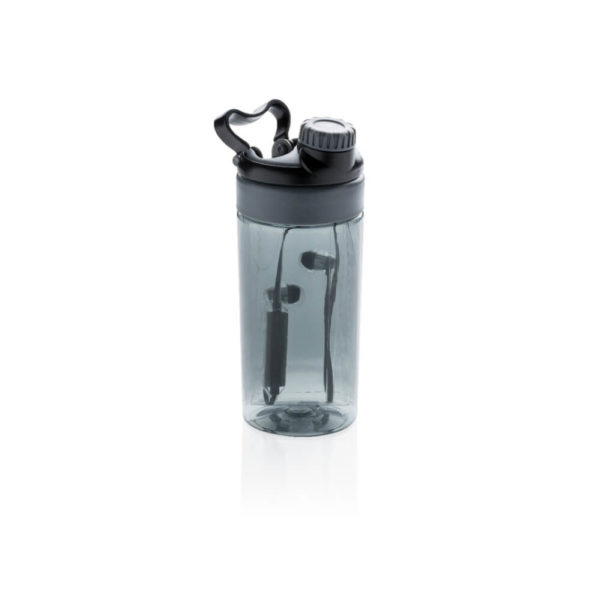 Butelka z słuchawkami bezprzewodowymi