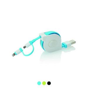 Chowany kabel usb z nadrukiem