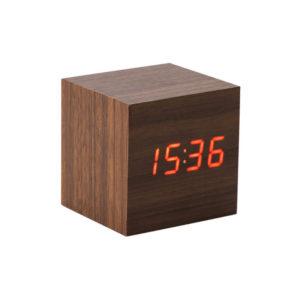 Drewniany zegar biurkowy z nadrukiem