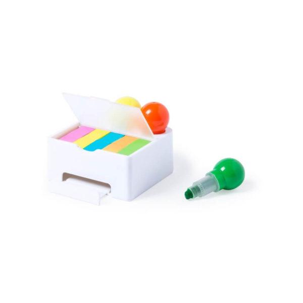 Karteczki samoprzylepne, stojak na telefon, zakreślacze
