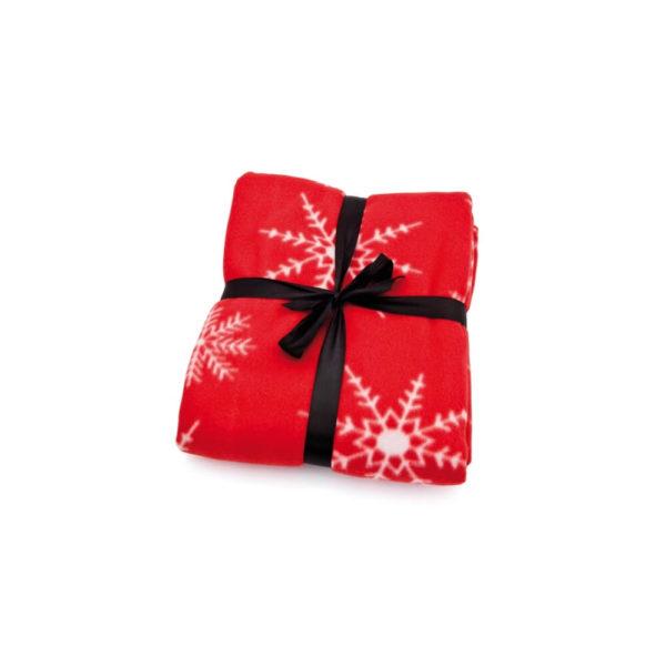 Koc polarowy świąteczny z logo firmy