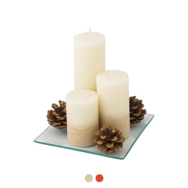 Zestaw świeczek z logo firmy