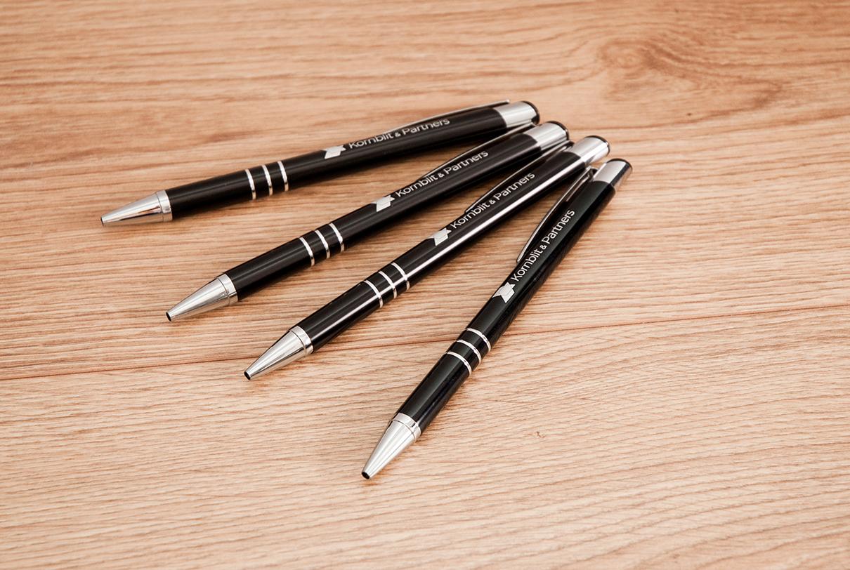 Długopisy metalowe z logo