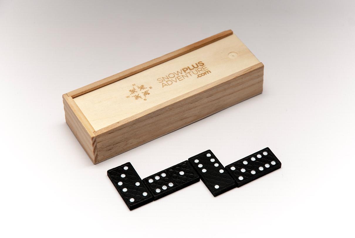 Domino drewniane z logo